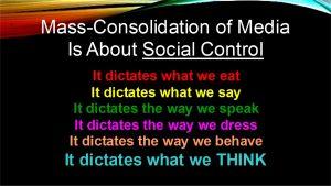 Media Consolidation Social Control graphic