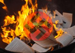 Nazi Book burning graphic