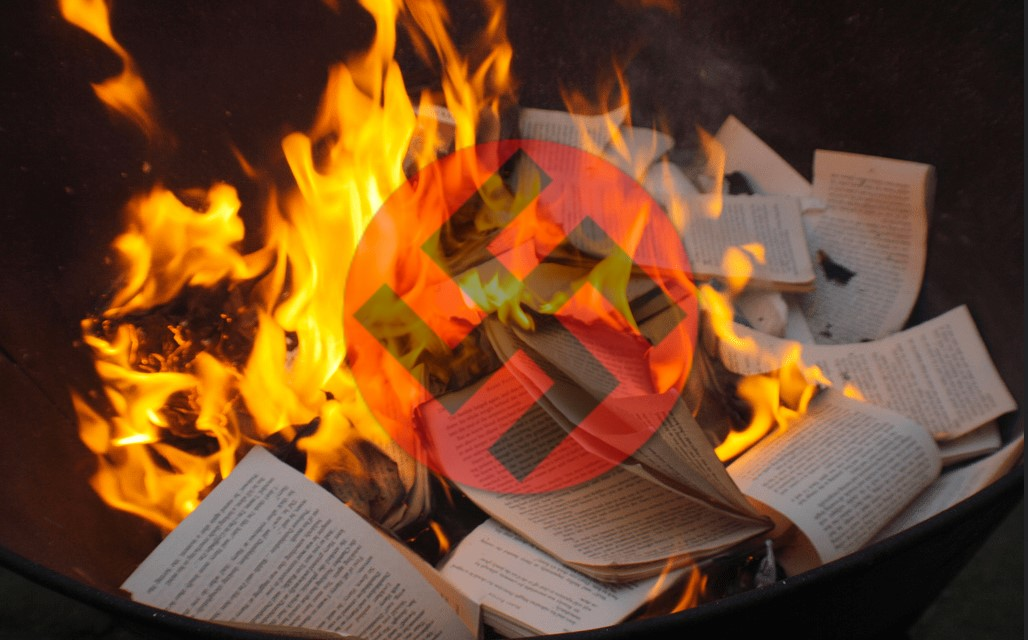 Nazi Book burning graphic