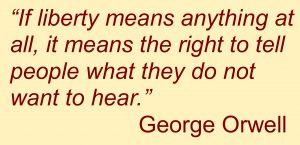 George Orwell on press