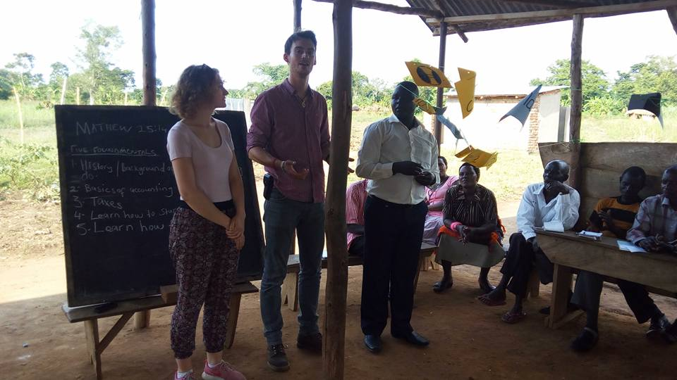 Betterplace.org's local project coordinator, Matthias Poerting, his wife and Neema director Stephen Dhairawa