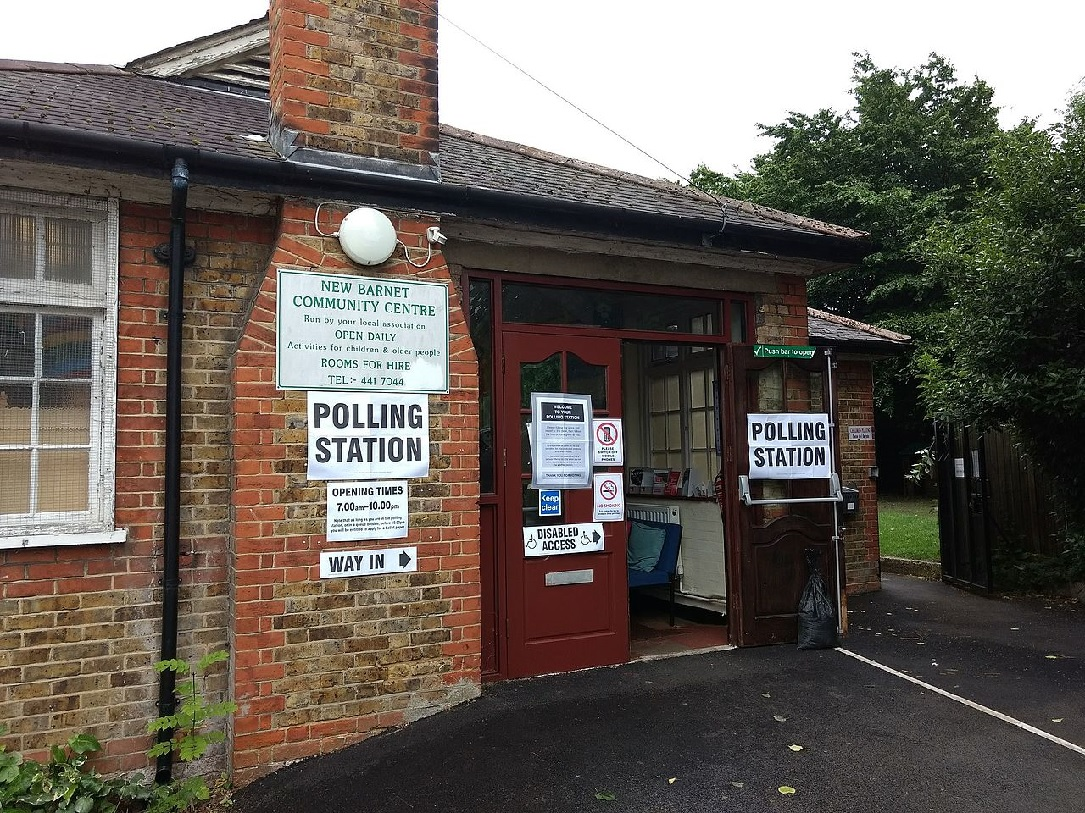 North London polling station