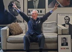 Trump operative Roger Stone striking Nixon pose