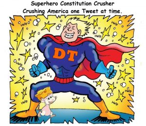 Superhero Conservative Crusher meme