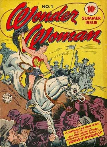 "photo of first issue of the ""Wonder Woman"" DC Comics series, most recently sold at auction for close to $90,000"