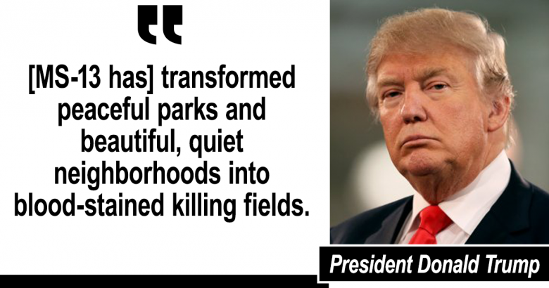 MS-13 quote by Donald Trump