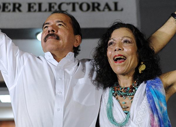 Daniel Ortega and his wife Rosaria Murillo.