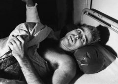 Prisoner of War, Lt. Commander John McCain shown in black and white photo in North Vietnamese Hua Lo prison hospital