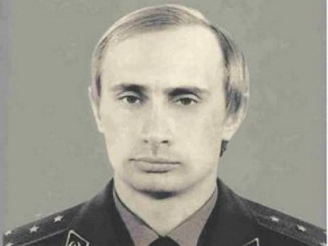 Vladimir Putin's Soviet era KGB identification photo