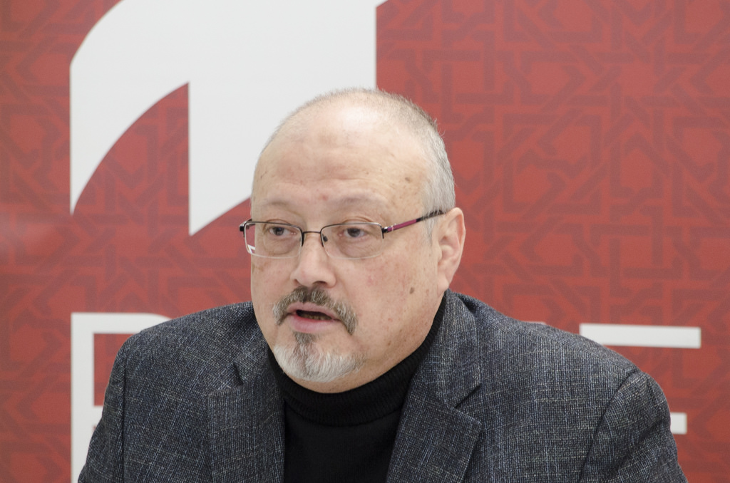 photo of journalist Jamal Khashoggi, murdered by Saudi operatives in Turkey