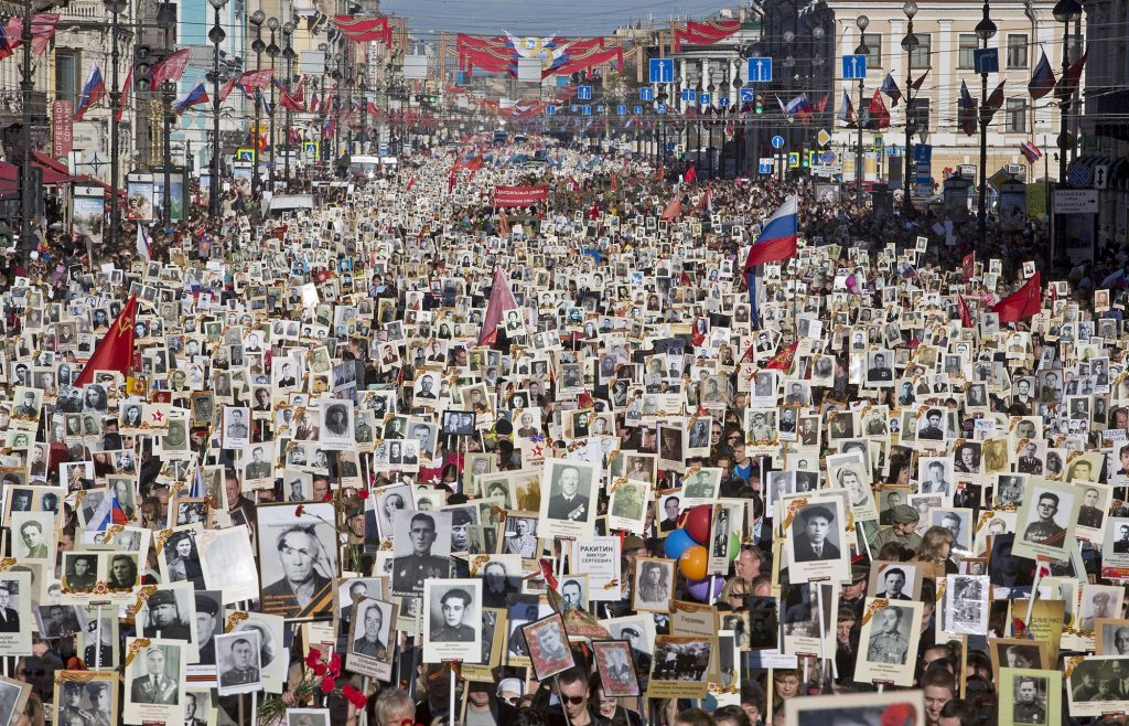 The Immortal Regiment march.