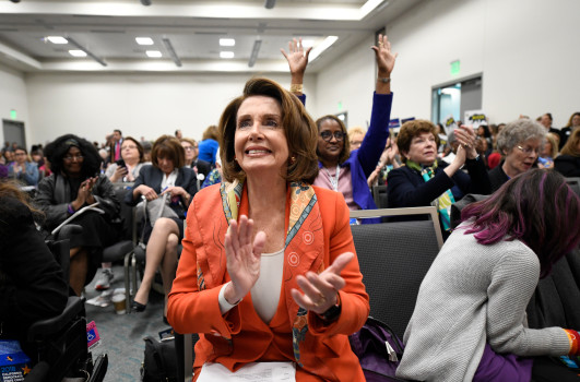 Future Speaker of the House of Representatives Nancy Pelosi