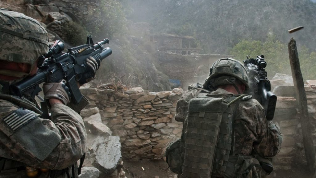 American soldiers in combat.