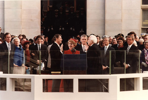 President Reagan's inauguration speech.