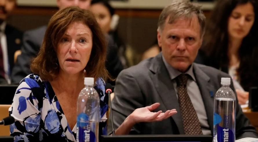 Fred and Cindy Warmbier, parents of Otto Warmbier, victim of North Korea's longstanding practice of arresting foreigners on trumped up charges and using them as political hostages.