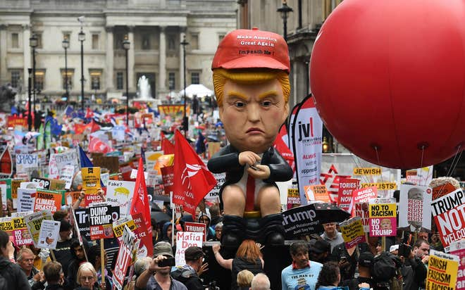 photo of protests-against-President-Donald-Trump-on-state-visit-to-UK-London