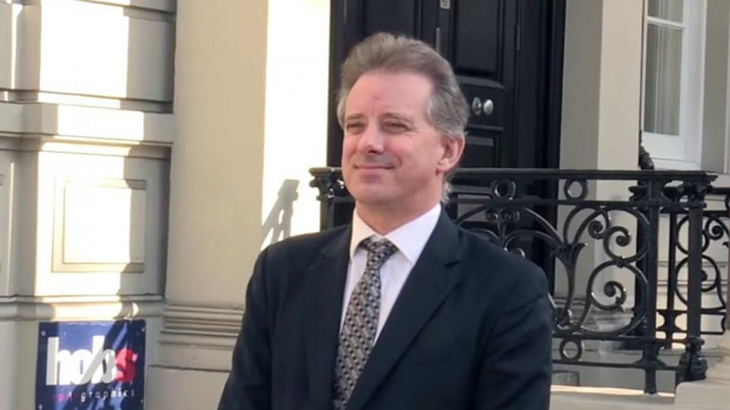 Christopher Steele, the former MI6 counter intelligence officer who ran the Russia desk for Her Majesty's Secret Intelligence Service, and the author of the Steele Dossier.