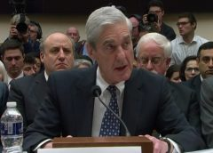 video still of Robert Mueller in testimony before the House Intelligence Committee on July 24, 2019