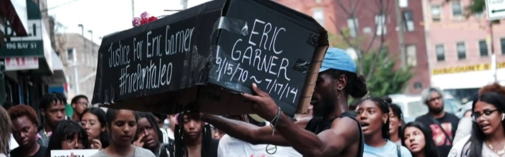 video still image of Street protests in NYC after the Staten Island Grand Jury acquitted Daniel Pantaleo in the death of Eric Garner.