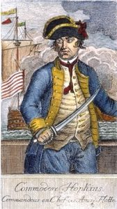 Painting of Commodore Esek Hopkins, an early subject of a whistleblower report in the late 1770s.