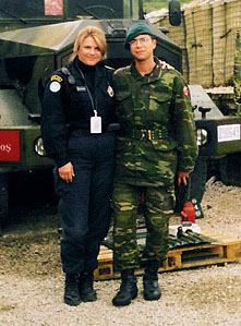 photo of Kathryn Bolkovac, a Nebraska police officer  who served as a peacekeeper in post-war Bosnia and outed the U.N. for covering up a sex trafficking scandal.