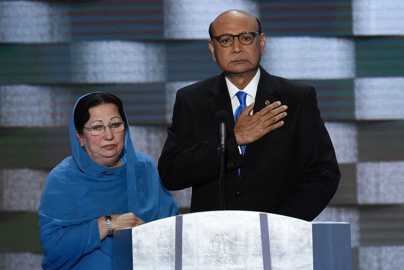 the Khan Gold Star family who spoke of their son's service and death in Iraq.