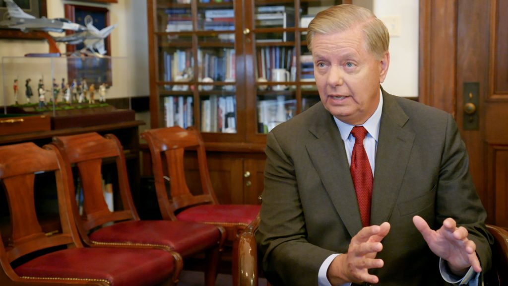 photo of Senator Lindsey Graham (R-SC) in an interview.
