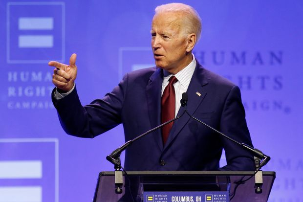 photo of former Vice President Joe Biden speaking at a Human Rights Campaign event.