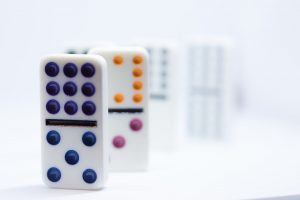 photo of domino pieces.