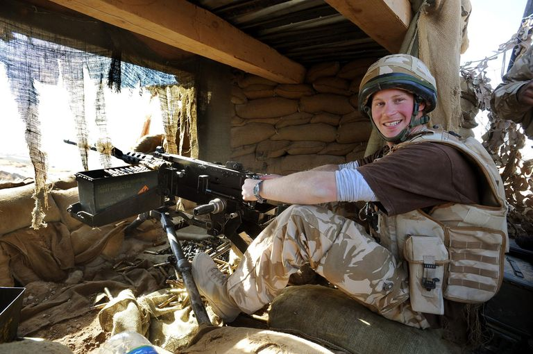 photo of Prince Harry in combat role in his deployment to Afghanistan
