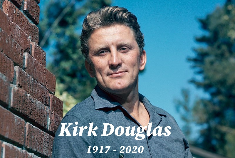 photo of young screen actor Kirk Douglas