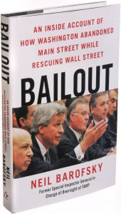 "cover of book about the restoration of Wall Street banking houses after the 2008 financial crisis - ""Bailout"" by Neil Barofsky"
