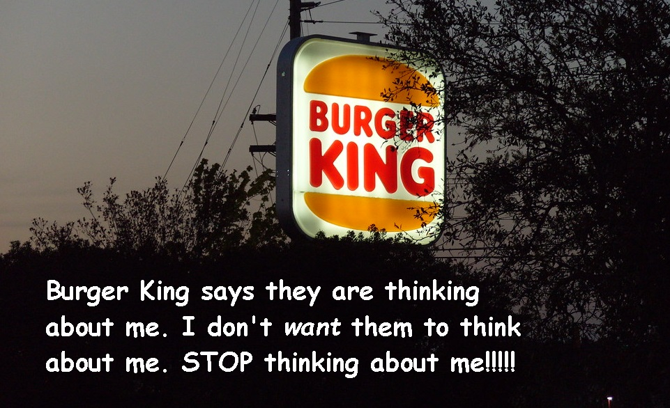 image of Burger King sign with text