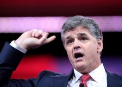 Creative Commons Flickr photo of Sean Hannity pointing to his own head.