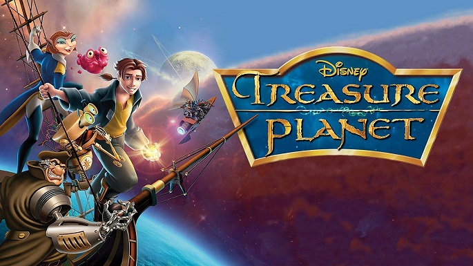 "Reproduction of original Disney animated film artwork for ""Treasure Planet"""