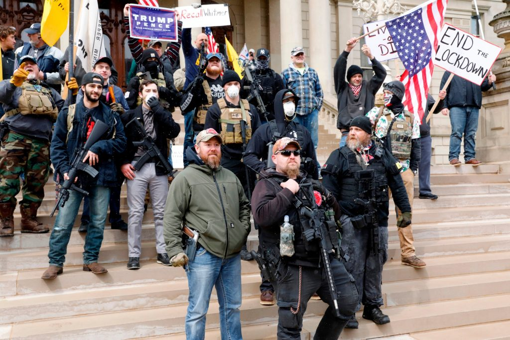Trump supporters with guns in Michigan
