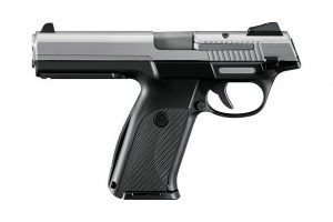 photo of a backward firing semi-auto pistol