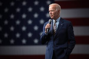Joe Biden speaking at a campaign event