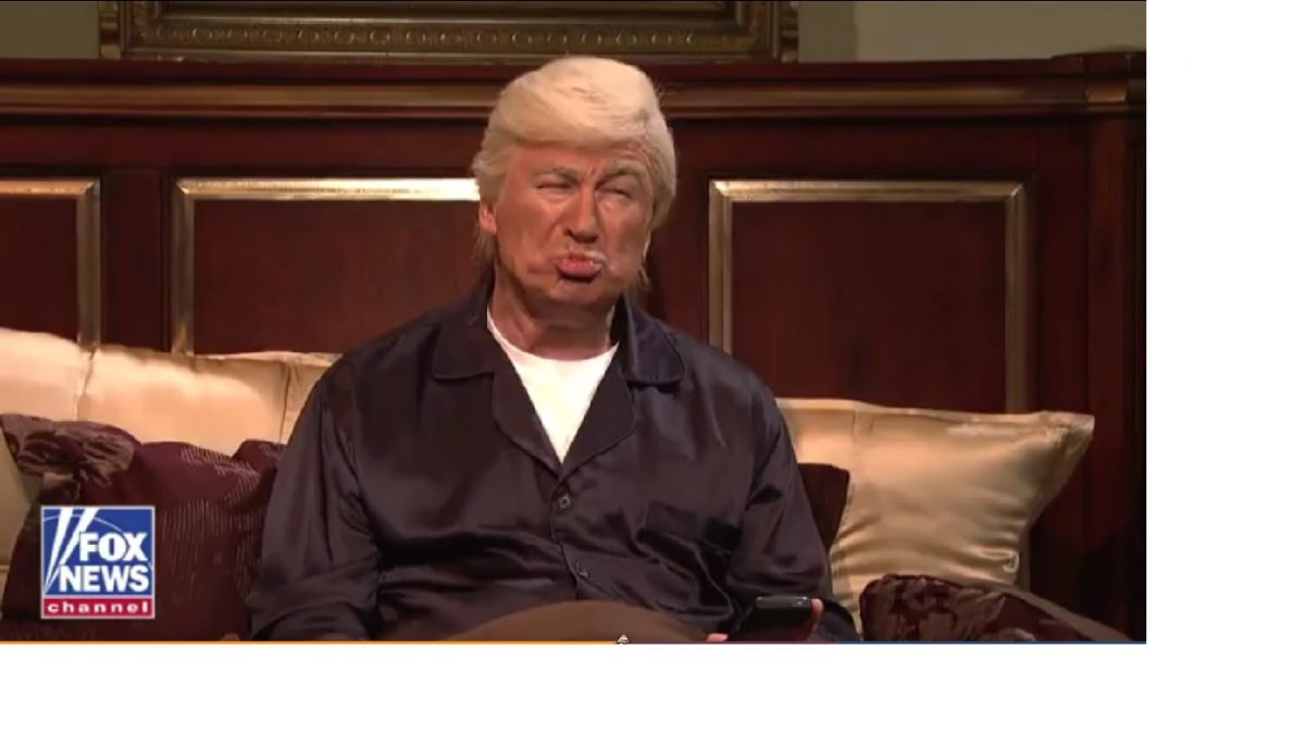 Video still of Alec Baldwin's Trump character on Saturday Night Live