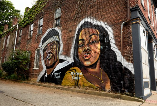 Mural of Breonna Taylor and George Floyd