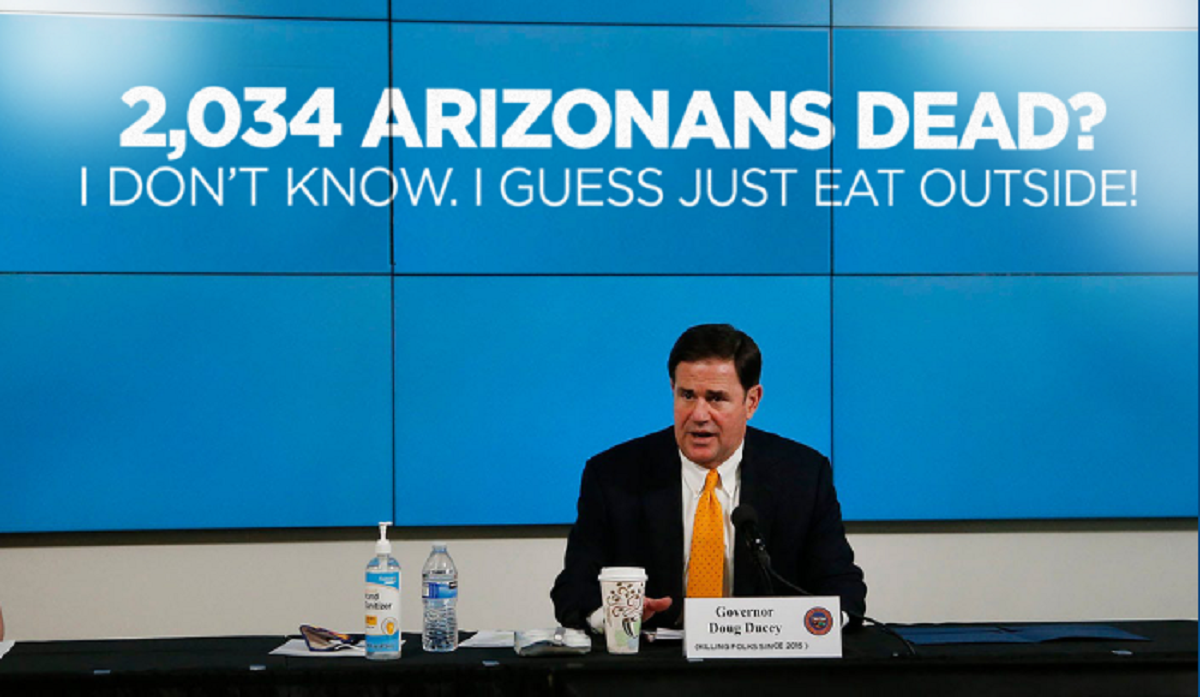 Writer's Lounge – Arizona Governor Doug Ducey Owns COVID-19 Failure