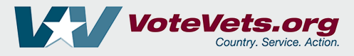 logo of Vote Vets - political advocacy group for military veterans
