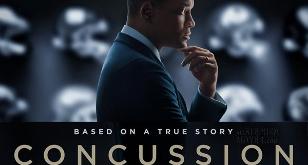 "promotional image of the film, ""Concussion"" starring Will Smith"