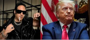 photo montage of comedian Andrew Dice Clay and impeached president Donald Trump