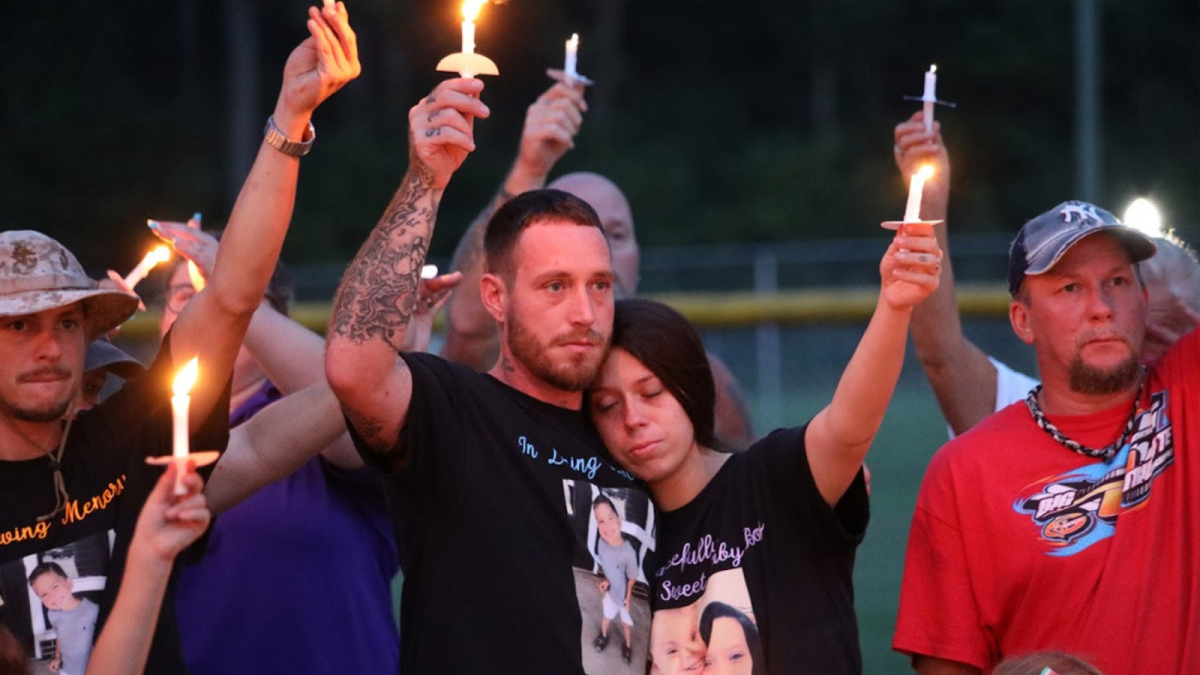 photo of Justice for Cannon Hinant Candlelight Vigil