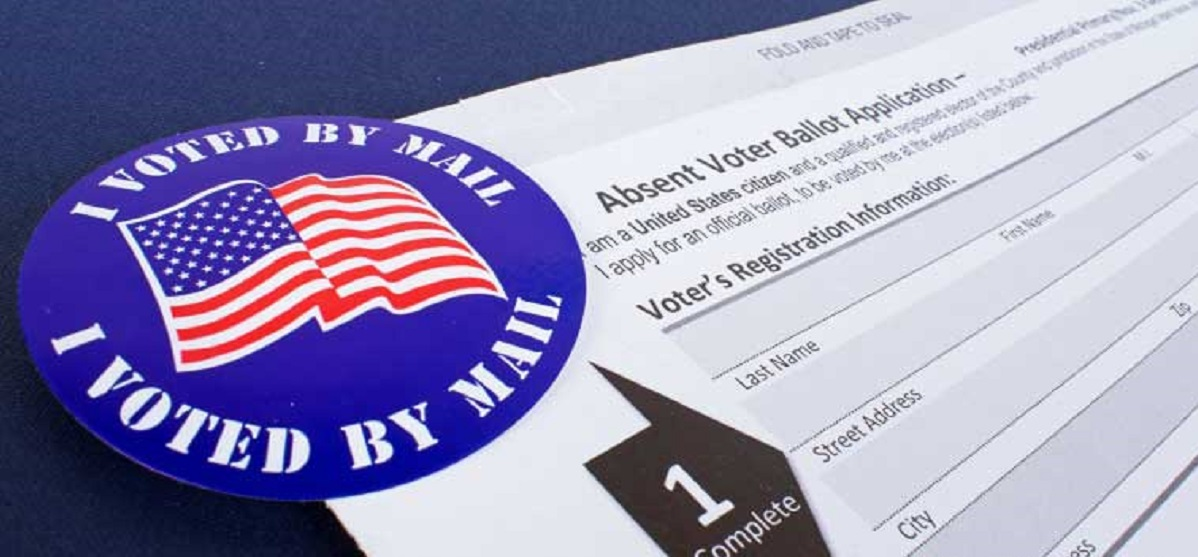 stock image with example of mail in ballot