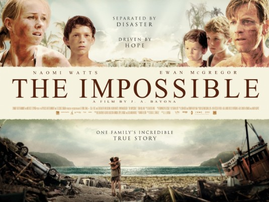 "Movie promotional poster image from the film, ""The Impossible"""