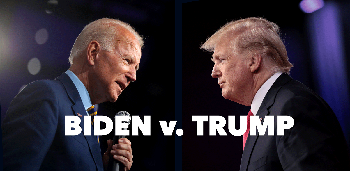 split image of U.S. presidential contenders Joe Biden and Donald Trump