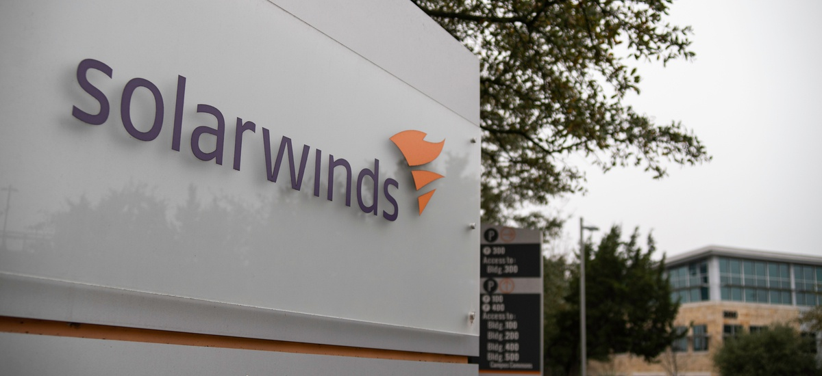 photo of the headquarters of Austin based SolarWinds, whose software was used by Kremlin based hackers to insert malware into thousands of government and private sector information systems.